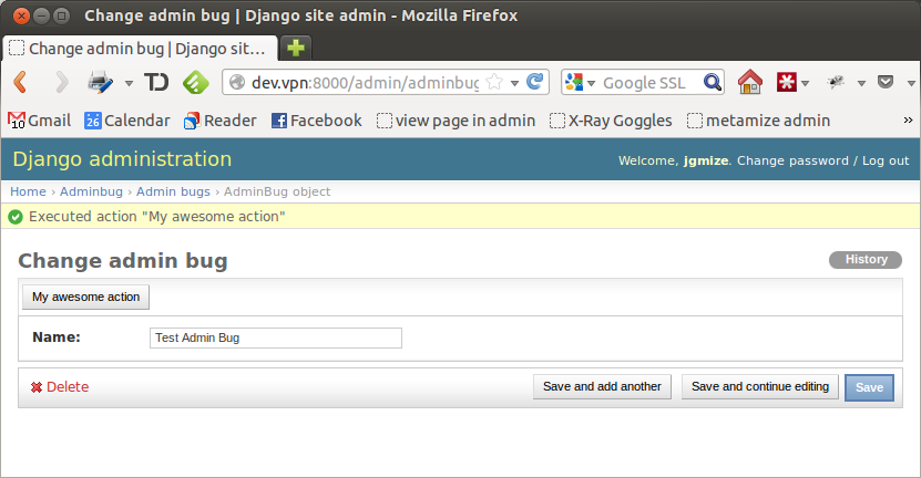 12090 (Show admin actions on the edit pages too) – Django