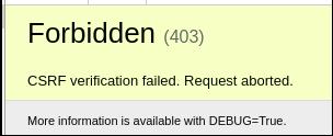 28488 (Django 1 11+ raises CSRF verification failed if settings